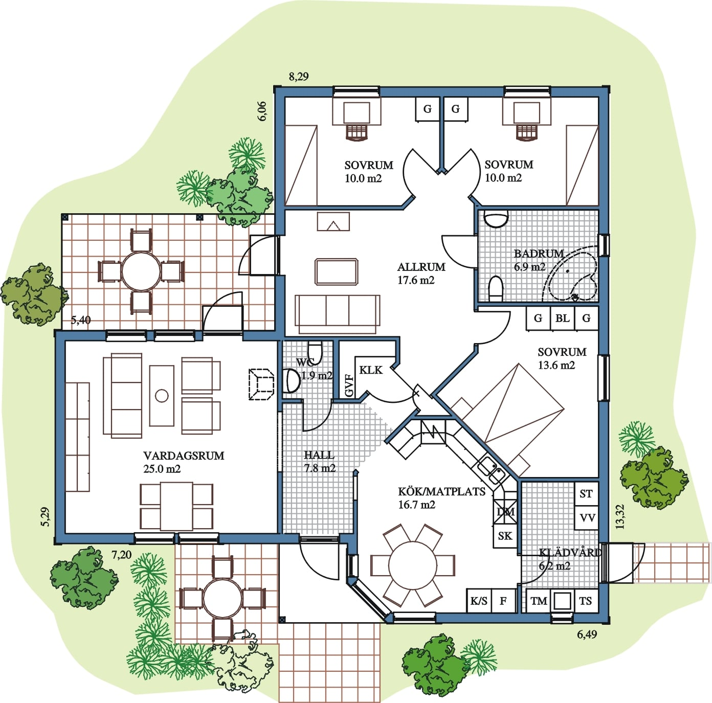 Plan interieur maison en bois for Plan decoration interieur maison